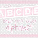 Baby Girl Block Pink Alphabet