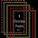 5 Christmas Frames - Set 1