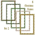 5 Christmas Frames - set 2