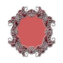 wire frame oval red satin5