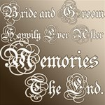 Calligraphy Wedding Words