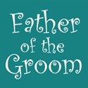 cufflink teal father groom