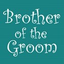 cufflink teal brother groom