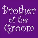 cufflink purple brother groom