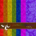 rainbow damask preview