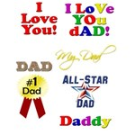 Fathers Day Headings, Titles, Lettering
