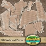 Cardboard Pieces - Element Pack