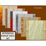 Bordered Paper Pack #2