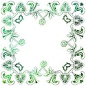 blue green deco border