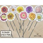 Flower Stick Pins