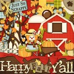 Happy Fall Y all Digital Scrapbooking Kit