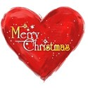 merry christmas heart