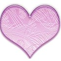 Heart palm leav pink lt