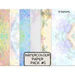 Water Colour Paper Pack #1 for Tiling
