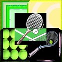 Tennis Background Kit Cover