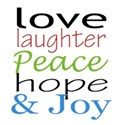 love laughter peace color