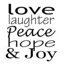 love laughter peace