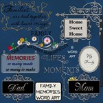 Family Memories Word Art