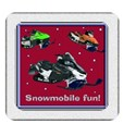 snowmobile button red