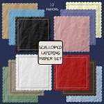 Scalloped Layering Paper Set