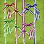Jewel Tone Semi-Sheer Dancer Ribbons