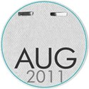 Circle date tag AUG