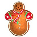 diamond stud snowman cookie
