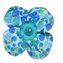 flower blue dots