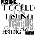 Let s go fishing Wordart