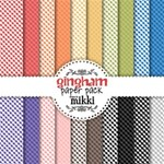 Rainbow Gingham Paper Pack