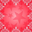 Christmas Stars on red background