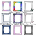 Claires Glass Crystal Butterfly Frames