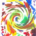 child s painting swirl background