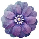 blue flower for mothers day_vectorized