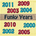 Funky Years Red & Blue