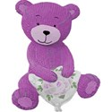 knitted purple bear