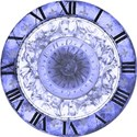 blue clock face