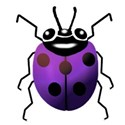 purple lady bug
