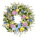 spring wreath 3 bird bow