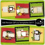 8x8 Recipe Cards - Set 9