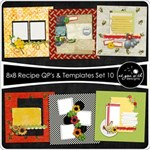 8x8 Recipe Cards - Set 10