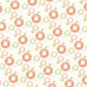 orange lime funky flower layering  paper