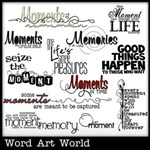 Moments in Time Word Art