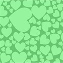 green heart overlay background