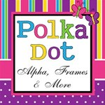Girls & Boys Polka Dot - Alpha, frames & more