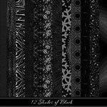 12 Shades of Black Paper Pack