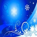 Blue and white snow background