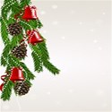 Pine cone garland background