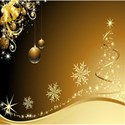 Golden-Christmas-background