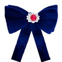 blue bow with tails - Copy